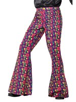 Mens 60s Psychedelic CND Flared Trousers [47193]