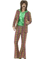 Mens 60's Psychedelic CND Suit Costume