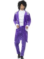 Mens 80's Purple Musician Costume [48004]