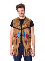 Mens American Indian Waistcoat [AF028]