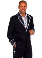 Adult Deluxe Mens Caberet Suit Costume Black