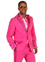 Mens Bling Suit Pink Costume