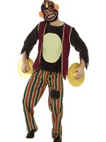 Mens Deluxe Clapping Monkey Toy Costume