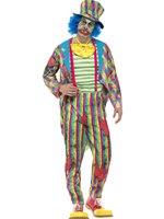 Mens Deluxe Patchwork Clown Costume