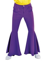 Mens Deluxe Purple Hippie Trousers [213222-10]