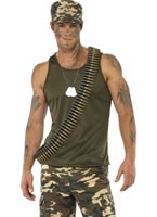 Adult Mens Khaki Camo Army Costume [35462]