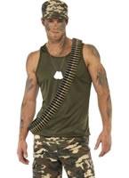 Adult Mens Khaki Camo Army Costume [35462]