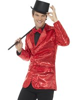Mens Red Sequin Jacket [46983]