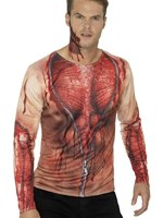 Mens Ripped Skin T-Shirt Costume