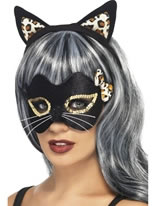 Midnight Kitty Headband and Eye Mask Set