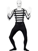 Adult Mime Second Skin Costume