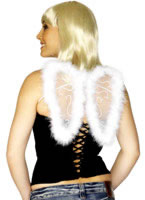Mini Glitter Wings White