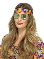 Mirrored Green and Blue Hippie Specs
