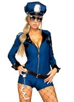 Miss Demeanor Police Costume [888106]