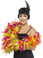 Mixed Neon Deluxe Feather Boa