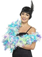 Mixed Pastel Deluxe Feather Boa
