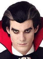 Modern Vampire Black and Grey Streaked Wig