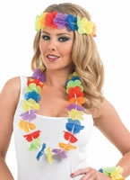 Multi Coloured Lei Set