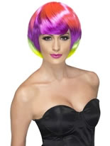 Multi-Coloured Funky Babe Wig