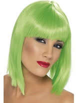 Neon Green Glam Wig [42138]