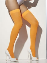 Neon Orange Thigh Highs [28362]