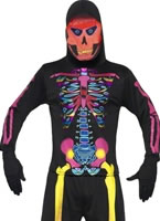 Neon Skeleton Bones Costume