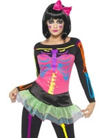 Adult Neon Skeleton Costume [21316]