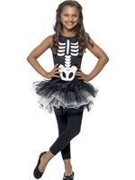 Child Skeleton Tutu Costume