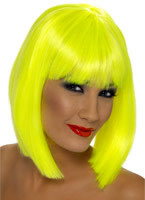 Neon Yellow Glam Wig [42143]