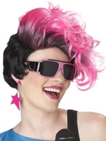 New Waves Hot Pink Wig