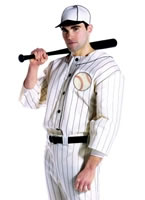 Adult Old Tyme Baseball Player Costume