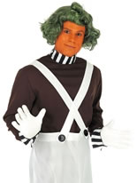 Oompa Loompa Factory Worker Costume with Wig