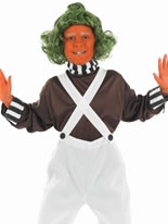 Oompa Loompa Factory Worker Childrens Costume
