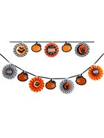 Orange and Black Glitter Garland