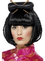 Oriental Lady Black Wig