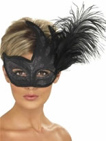 Ornate Black Columbina Eyemask [40024]