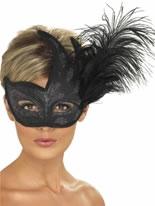 Ornate Black Columbina Eyemask [40024]