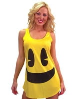 Adult PacMan Yellow Tank Dress Costume