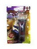 Paintglow Red Glitter Body Gel
