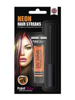 Paintglow UV Orange Hair Colour Streaks