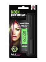 Paintglow UV Green Hair Colour Streaks