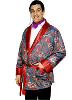 Adult Paisley Smoking Jacket