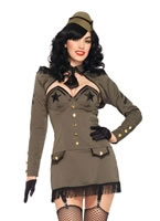 Adult Pin Up Army Girl Costume [83955]
