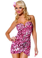 Pin Up Girl Jungle Honey Costume