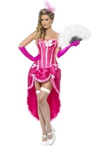 Adult Pink Burlesque Dancer Costume