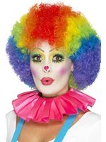 Pink Clown Neck Ruffle