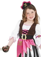 Child Pink Pirate Girl Costume