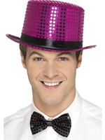 Pink Sequin Top Hat