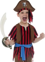 Child Pirate Boy Childrens Costume