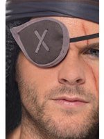 Pirate Eye Patch with Grey Trim
